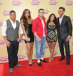 Ronnie,Sammie Sweetheart,Vinnie,Deena and Pauly D of The Jersey Shore at The 2011 MTV Video Music Awards held at Staples Center in Los Angeles, California on September 06,2012                                                                   Copyright 2012  DVS / Hollywood Press Agency