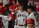 MLB: Los Angeles Angels Shohei Ohtani hits home run against Texas Rangers