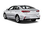 Car pictures of rear three quarter view of a 2018 Hyundai Sonata Limited 4 Door Sedan angular rear