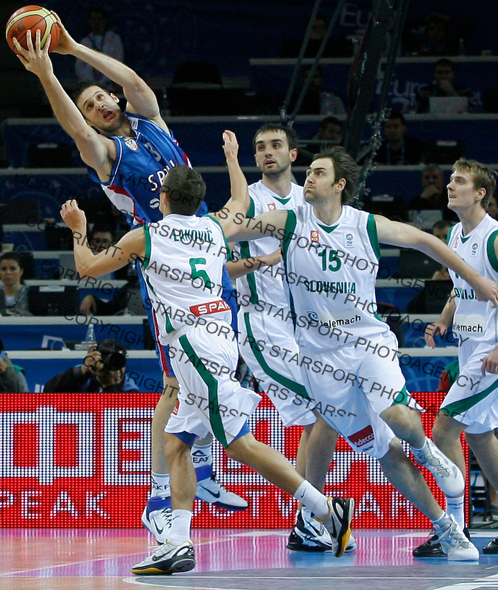 Kosta Perovic during quarterfinal basketball game between Greece and Serbia in Kaunas, Lithuania, Eurobasket 2011, Friday, September 16, 2011. (photo: Pedja Milosavljevic)