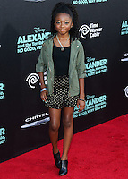 HOLLYWOOD, LOS ANGELES, CA, USA - OCTOBER 06: Skai Jackson arrives at the World Premiere Of Disney's 'Alexander And The Terrible, Horrible, No Good, Very Bad Day' held at the El Capitan Theatre on October 6, 2014 in Hollywood, Los Angeles, California, United States. (Photo by Xavier Collin/Celebrity Monitor)