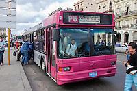 Cuba, Havana.  Modern Buses Provide Transport Around Havana.
