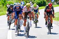 1st July 2021; Chateauroux, France; VAN AVERMAET Greg (BEL) of AG2R CITROEN TEAM, RICKAERT Jonas (BEL) of ALPECIN-FENIX and DE GENDT Thomas (BEL) of LOTTO SOUDAL during stage 6 of the 108th edition of the 2021 Tour de France cycling race, a stage of 160,6 kms between Tours and Chateauroux on July 1