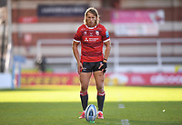 5th September 2020; Kingsholm Stadium, Gloucester, Gloucestershire, England; English Premiership Rugby, Gloucester versus London Irish; Billy Twelvetrees of Gloucester lines up a conversion