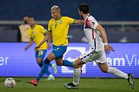 2nd July 2021; Nilton Santos Stadium, Rio de Janeiro, Brazil; Copa America, Brazil versus Chile; Richarlison of Brazil takes a shot on goal