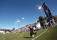 David Meves #24 of the University of Akron during the 2010 College Cup final against the University of Louisville at Harder Stadium, on December 12 2010, in Santa Barbara, California.Akron champions, 1-0.