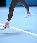 Serena Williams (USA) loses to Ana Ivanovic (SRB) 4-6, 6-3,6-3 at the Australian Open in Melbourne, Australia on January 19, 2014