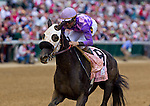Victoria's Wildcat and Kent Desormeaux win the Eight Belles Stakes at Churchill Downs in Louisville, Kentucky May 7, 2011.