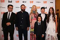 COLIN FARRELL, DIRECTOR YORGOS LANTHIMOS, NICOLE KIDMAN, SUNNY SULJIC, BARRY KEOGHAN AND RAFFEY CASSIDY - RED CARPET OF THE FILM 'THE KILLING OF A SACRED DEER' - 42ND TORONTO INTERNATIONAL FILM FESTIVAL 2017 . TORONTO, CANADA, 10/09/2017. # FESTIVAL DU FILM DE TORONTO - RED CARPET 'THE KILLING OF A SACRED DEER'