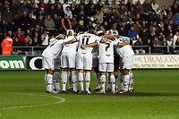 Pictured: Swansea City players in team huddle. <br /> Re: Coca Cola Championship, Swansea City Football Club v Birmingham City at the Liberty Stadium, Swansea, south Wales Friday 21 November 2008.<br /> Picture by D Legakis Photography (Athena Picture Agency), Swansea, 07815441513