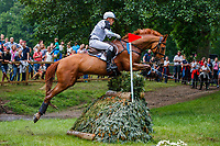 AUS-Andrew Hoy rides Vassily de Lassos during the Cross Country for the Meßmer Trophy mit Deutscher Meisterschaft CCI4*-S. Interim-7th. The Longines Luhmuehlen International Horse Trials. Salzhausen, Germany. Saturday 15 June. Copyright Photo: Libby Law Photography