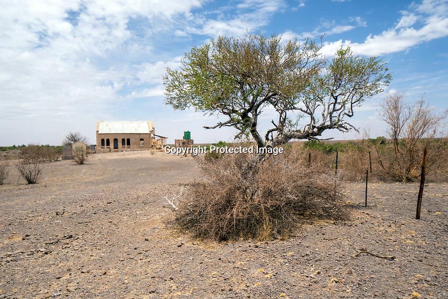 Polizeistation der Deutschen Schutztruppe in Namibia aus dem Jahr 1904