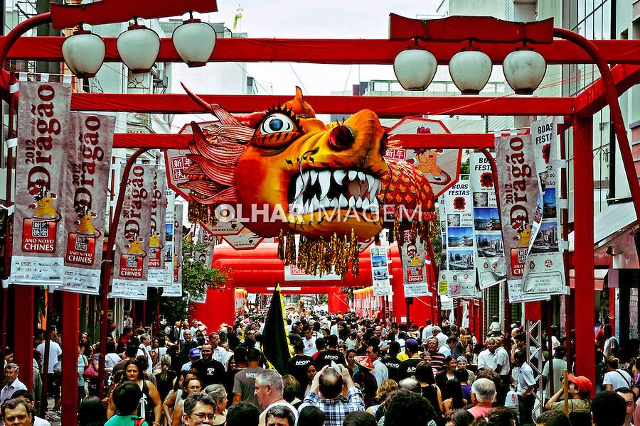 Celebraçao do Ano Novo Chines, Ano do Dragao. Bairro da Liberdade. Sao Paulo. 2012. Foto de Levi Bianco.