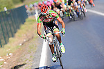 Nazim Bakirci (TUR) Torku Sekerspor makes a break for it during Stage 6 of the 2015 Presidential Tour of Turkey running 184km from Denizli to Selcuk. 30th April 2015.<br /> Photo: Tour of Turkey/Mario Stiehl/www.newsfile.ie