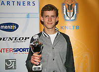 01-12-13,Netherlands, Almere,  National Tennis Center, Tennis, Winter Youth Circuit, Boys 16 years , 5 th place : Michiel de Krom<br /> Photo: Henk Koster