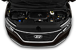 Car stock 2019 Hyundai H1-People Executive 5 Door Mini Van engine high angle detail view