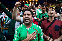 Moscow, Russia, 16/06/2018.<br /> Mexico supporters in central Moscow during the 2018 FIFA World Cup.