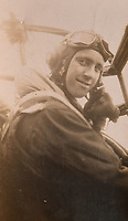 BNPS.co.uk (01202) 558833<br /> Pic: BNPS<br /> <br /> Pictured: Former Squadron Leader Ken Symonds on board a Lancaster Bomber in 1945<br /> <br /> An RAF veteran who flew the last Lancaster bomber home on the final sortie of the war has finally received his Bomber Command clasp 75 years later.<br /> <br /> Former Squadron Leader Ken Symonds, 97, limped his aircraft back to Britain following the last big raid of Bomber Command's Europe offensive.<br /> <br /> The sortie took place over Berchestgaden, the town in the Bavarian Alps where Adolf Hitler had his Eagles Nest retreat, on April 25, 1945 - five day's before the evil dictator's suicide.<br /> <br /> The Lancaster was struck by anti-aircraft fire which resulted in one of its four engines to be knocked out.