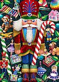 Randy, CHRISTMAS SANTA, SNOWMAN, WEIHNACHTSMÄNNER, SCHNEEMÄNNER, PAPÁ NOEL, MUÑECOS DE NIEVE, paintings+++++,USRW396,#x# ,nutcracker