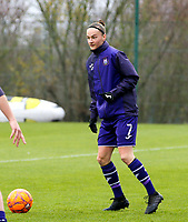 Elke Van Gorp (7 Anderlecht)  pictured during the warm up before  a female soccer game between Standard Femina de Liege and RSC Anderlecht on the 9th matchday of the 2020 - 2021 season of Belgian Scooore Womens Super League , saturday 12 th of December 2020  in Angleur , Belgium . PHOTO SPORTPIX.BE | SPP | SEVIL OKTEM