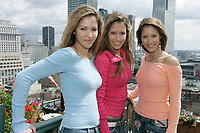 EXCLUSIVE PHOTO<br /> August 22 2005, Montreal (Qc) Canada <br /> Brazilian girl group T-RIO, <br /> during a promo tour in Montreal, Canada<br /> Photo : (c) 2005 Pierre Roussel / Images Distribution<br />  - PHOTO D'ARCHIVE :  Agence Quebec Presse