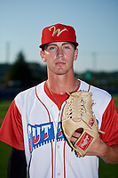 Williamsport Crosscutters pitcher Austin Ross (12) poses for a photo before a game against the Mahoning Valley Scrappers on August 28, 2018 at BB&T Ballpark in Williamsport, Pennsylvania.  Williamsport defeated Mahoning Valley 8-0.  (Mike Janes/Four Seam Images)
