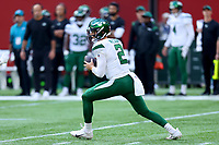 10th October 2021; Tottenham Hotspur stadium, London, England; NFL UK Series, Atlanta Falcons versus New York Jets: New York Jets Quarterback Zach Wilson (2)