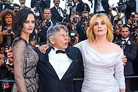 Eva Green, Roman Polanski et Emmanuelle Seigner, sur le tapis rouge pour la projection du film D APRES UNE HISTOIRE VRAIE, hors competition lors du soixante-dixième (70ème) Festival du Film à Cannes, Palais des Festivals et des Congres, Cannes, Sud de la France, samedi 27 mai 2017.