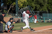 STANFORD, CA - MAY 27: Carter Graham during a game between Oregon State University and Stanford Baseball at Sunken Diamond on May 27, 2021 in Stanford, California.