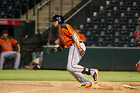 AZL Giants first baseman Nathanael Javier (47) bats during a game against the AZL Angels on July 9, 2017 at Diablo Stadium in Tempe, Arizona. AZL Giants defeated the AZL Angels 8-4. (Zachary Lucy/Four Seam Images)