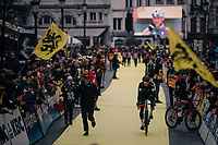 Greg Van Avermaet (BEL/BMC) rolling to the start<br /> <br /> 102nd Ronde van Vlaanderen 2018 (1.UWT)<br /> Antwerpen - Oudenaarde (BEL): 265km