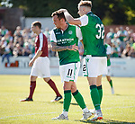30.06.18 Linlithgow Rose v Hibs: Danny Swanson celebrates his second goal
