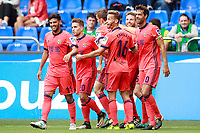Real Sociedad's players celebrate goal during La Liga match. September 10,2017.  *** Local Caption *** © pixathlon<br /> Contact: +49-40-22 63 02 60 , info@pixathlon.de