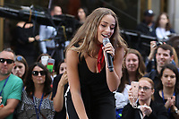 Brynn Cartelli winner of ''The Voice'' TV show<br /> performing on NBC ''Today Show'' at <br /> Rockefeller Plaza  6-8-2018<br /> Photo By Maggie Wilson/PHOTOlink.net<br /> 917-754-8588