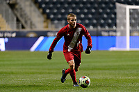 Chester, PA - Friday December 08, 2017: Rece Buckmaster The Indiana Hoosiers defeated the North Carolina Tar Heels 1-0 during an NCAA Men's College Cup semifinal soccer match at Talen Energy Stadium.