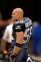 Oct. 23, 2005; Seattle, WA, USA; Linebacker (58) Isaiah Kacyvenski of the Seattle Seahawks against the Dallas Cowboys at Qwest Field. Mandatory Credit: Mark J. Rebilas