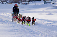 Saturday March 10, 2012 Ed Stielstra on the Yukon River after having left the Ruby checkpoint, heading to Galena Checkpoint. Iditarod 2012.