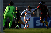 Noemi Visentin of Roma CF and Allyson Swaby of AS Roma compete for the ball during the Women Italy cup round of 8 second leg match between AS Roma and Roma Calcio Femminile at stadio delle tre fontane, Roma, February 20, 2019 <br /> Foto Andrea Staccioli / Insidefoto