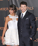 Kellan Lutz and Sharni Vinson  attends the Relativity World Premiere of Immortals held at The Nokia Theater Live in Los Angeles, California on November 07,2011                                                                               © 2011 DVS / Hollywood Press Agency