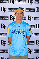 Eric Elizondo (2) of Juarez Lincoln High School in Mission, Texas during the Baseball Factory All-America Pre-Season Tournament, powered by Under Armour, on January 12, 2018 at Sloan Park Complex in Mesa, Arizona.  (Mike Janes/Four Seam Images)