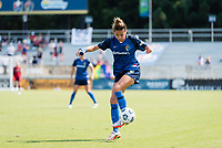 CARY, NC - SEPTEMBER 12: Carson Pickett #4 of the NC Courage controls the ball during a game between Portland Thorns FC and North Carolina Courage at Sahlen's Stadium at WakeMed Soccer Park on September 12, 2021 in Cary, North Carolina.