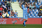 Getafe CF's  Jaime Mata celebrates goal  during La Liga match. February 09,2019. (ALTERPHOTOS/Alconada)