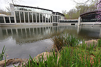 A major expansion at Crystal Bridges Museum of American Art in Bentonville, seen here on Wednesday April 7 2021, will expand the size of the current museum by 50 percent. Go to nwaonline.com/210408Daily/ to see more photos.<br />(NWA Democrat-Gazette/Flip Putthoff)