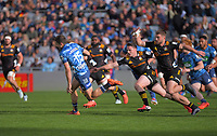 Blues fullback Matt Duffie hares away to score during the Super Rugby Aotearoa match between the Blues and Chiefs at Eden Park in Auckland, New Zealand on Sunday, 26 July 2020. Photo: Dave Lintott / lintottphoto.co.nz