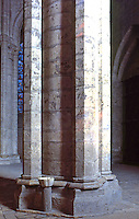 Chartres: Notre Dame Cathedral. Cylindrical pillar in transept. Reference only.