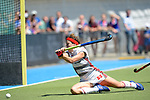 GER - Mannheim, Germany, May 27: During the women semi-final match between UHC Hamburg and Rot-Weiss Koeln at the Final4 tournament May 27, 2017 at Am Neckarkanal in Mannheim, Germany. (Photo by Dirk Markgraf / www.265-images.com) *** Local caption *** Christina Schroeder #11 of Rot-Weiss Koeln