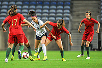20200304 Faro , Portugal : Italian forward Barbara Bonansea (11) and Portugese midfielder Tatiana Pinto (11) pictured during the female football game between the national teams of Portugal and Italy on the first matchday of the Algarve Cup 2020 , a prestigious friendly womensoccer tournament in Portugal , on wednesday 4 th March 2020 in Faro , Portugal . PHOTO SPORTPIX.BE   STIJN AUDOOREN
