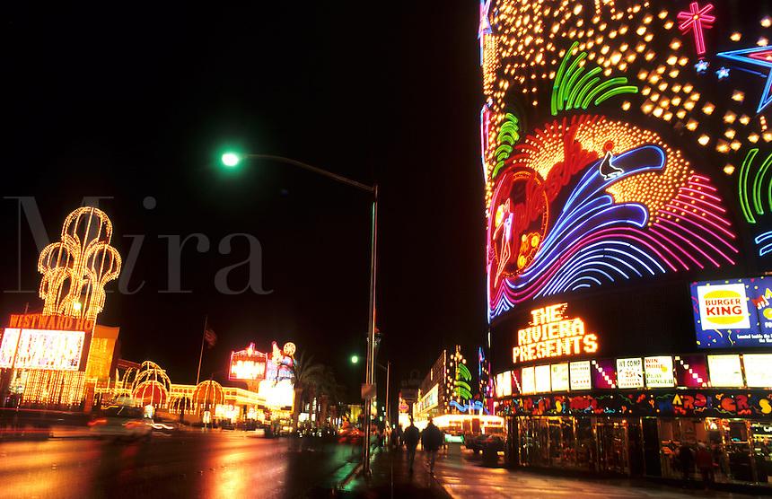 The strip, Las Vegas Nevada at night, USA