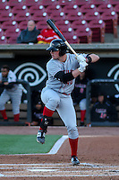 Great Lakes Loons infielder Matt Jones (40) at bat during a Midwest League game against the Wisconsin Timber Rattlers on April 26th, 2016 at Fox Cities Stadium in Appleton, Wisconsin.  Wisconsin defeated Great Lakes 4-3. (Brad Krause/Four Seam Images)