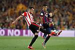 Barcelona´s Neymar Jr (R) and Athletic de Bilbao´s Xabier Etxeita during 2014-15 Copa del Rey final match between Barcelona and Athletic de Bilbao at Camp Nou stadium in Barcelona, Spain. May 30, 2015. (ALTERPHOTOS/Victor Blanco)